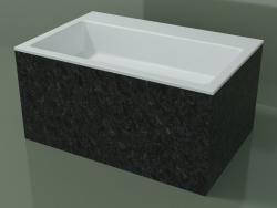 Vasque à poser (01R142302, Nero Assoluto M03, L 72, P 48, H 36 cm)