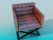 Кресло с глянцевой обивкой