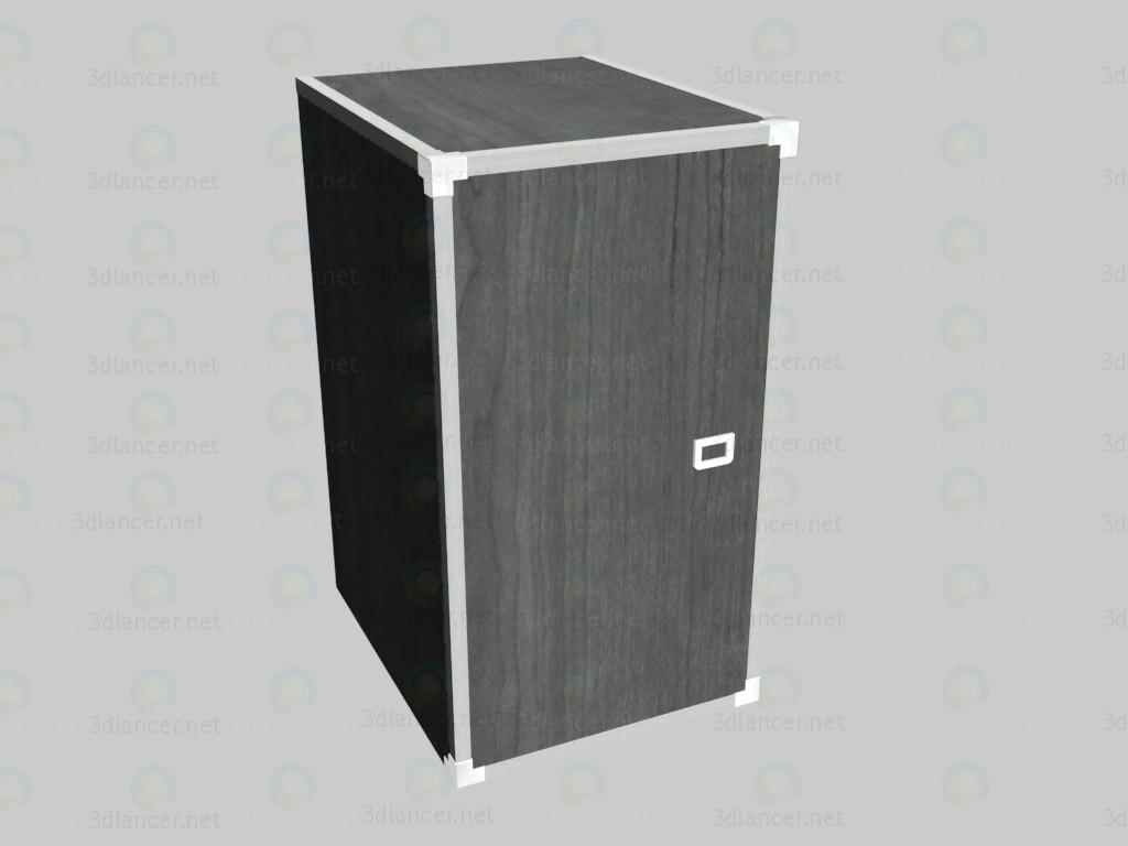 modelo 3D Armario estrecho con puertas - escuchar