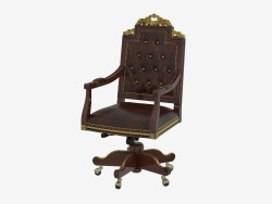 Rotating chair with leather upholstery 1608