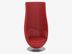 Chaise en cuir tulipe