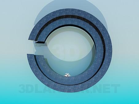 3d модель Ресепшн круглый – превью