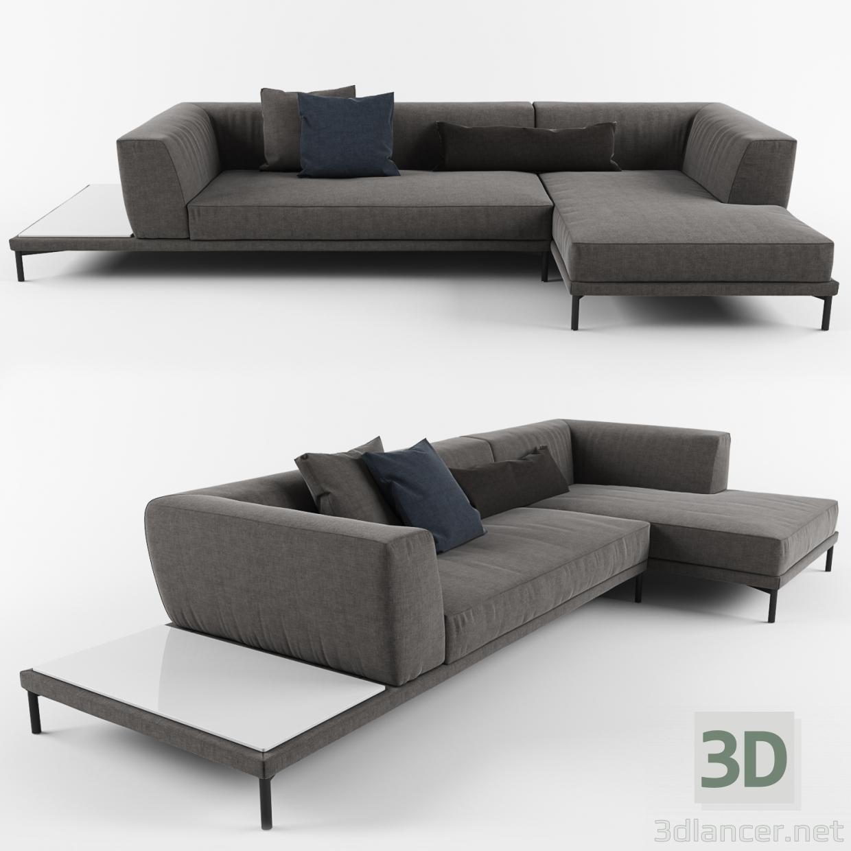 3 डी मॉडल सोफ़ा - पूर्वावलोकन