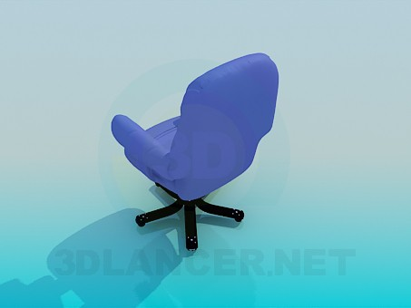 3d model Armchair on wheels - preview