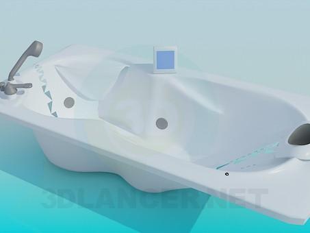 3d модель Ванна с экраном – превью
