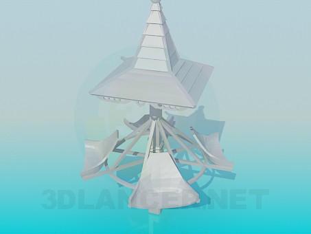 3d model Spinning carousel - preview