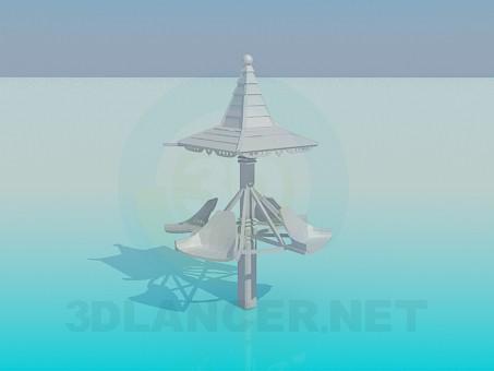 3d модель Вертящаяся карусель – превью