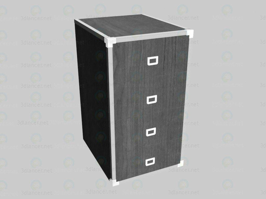 3d model Narrow chest of drawers - preview