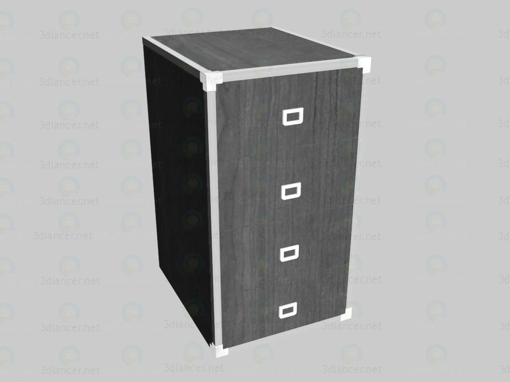 3d модель Комод узкий с ящиками VOX – превью