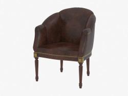 Кресло гостинное кожаное 1617