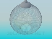Luminaire with mesh lampshade