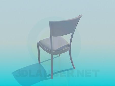 3d модель Простой стул – превью
