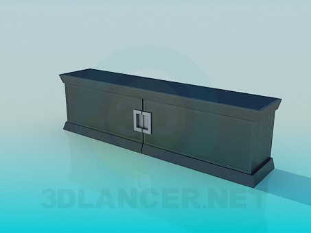 3d model Low console - preview