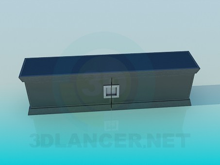 3d модель Низкая консоль – превью