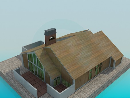 3d model Country house - preview