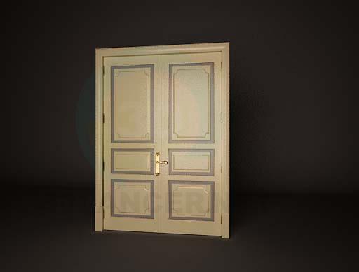 3d model Дверь двойная 2 - preview
