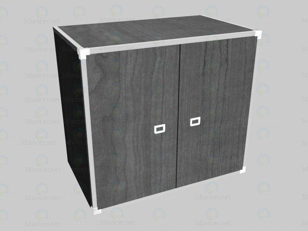3d model Chest of drawers with doors VOX - preview
