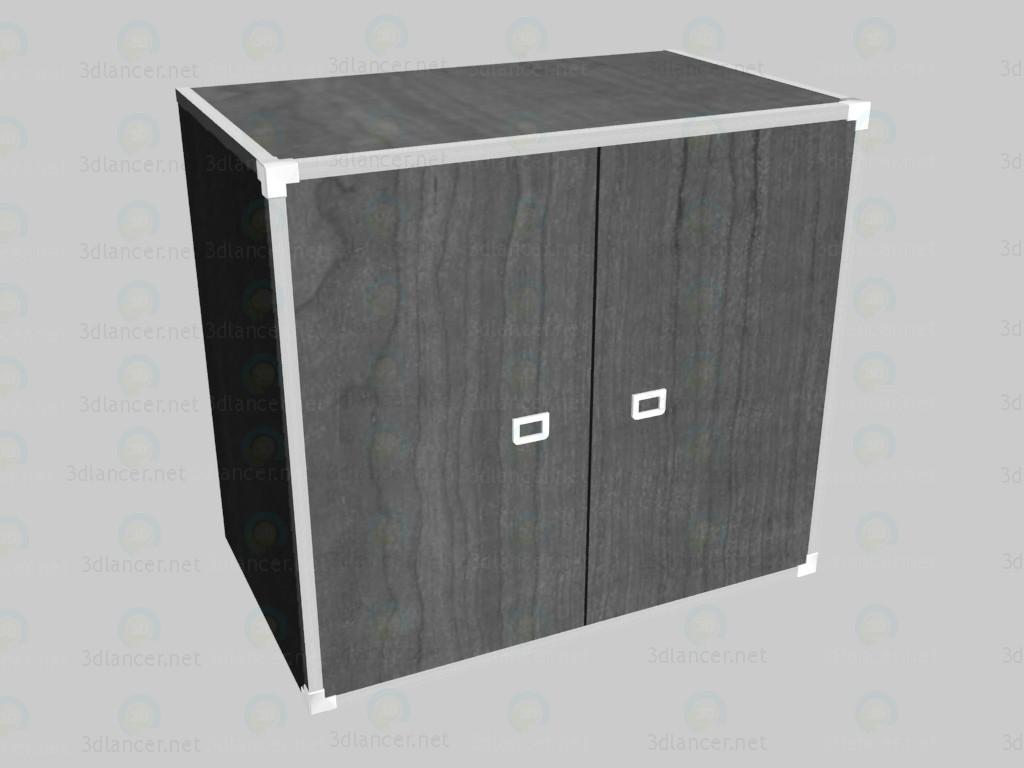 3d model Cómoda con puertas - vista previa