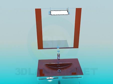 modelo 3D Lavado de alta poli - escuchar