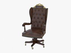 Кресло вращающееся с кожаной обивкой 1619