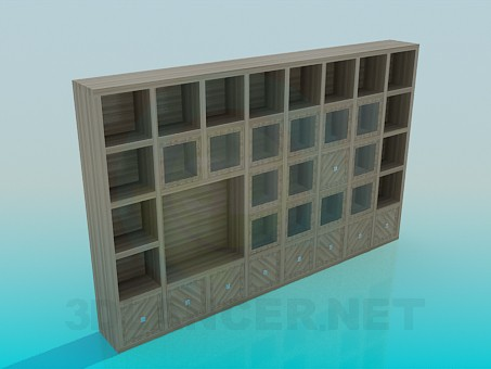 3d model Cabinetl in the living room - preview
