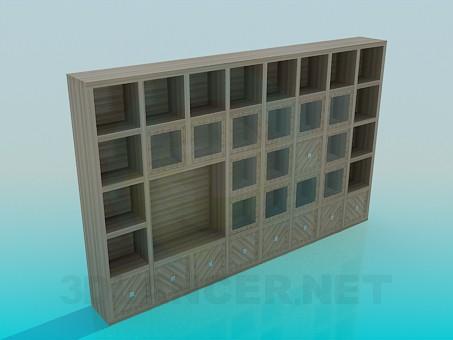 modelo 3D Cabinetl en la sala de estar - escuchar