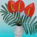 3d modeling Vase with flower model free download