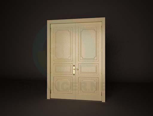 3d model Дверь двойная 1 - preview