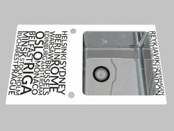 Lavado de vidrio y acero, 1 cámara con un ala para secar - Edge Diamond Pallas (ZSP 0A2C)