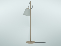 Floor lamp Pull (Oak, White)