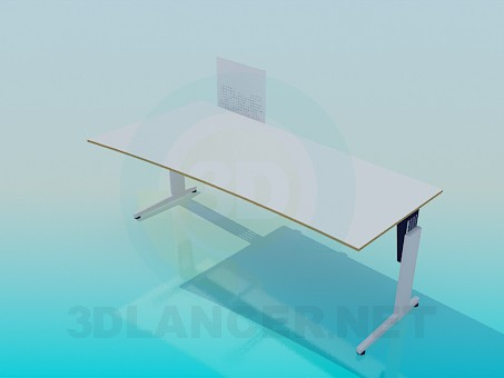 3d model Computer table - preview