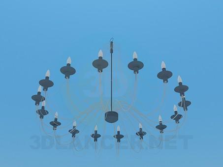 3d модель Люстра зі свічками – превью