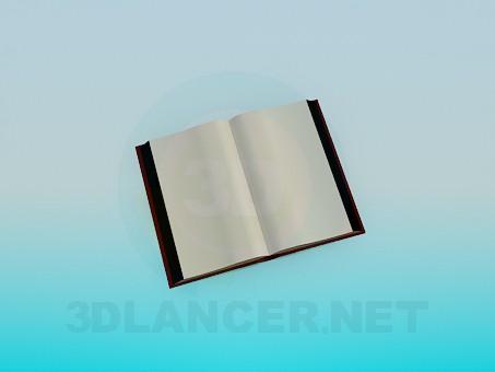 3d моделирование Открытая книга модель скачать бесплатно