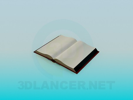 3d model Open book - preview
