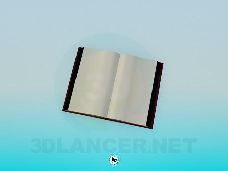 3d модель Открытая книга – превью