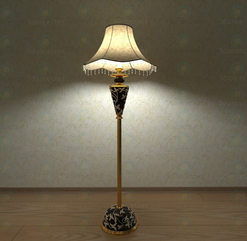 Floor lamp paid 3d model by vaskus preview