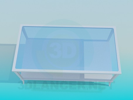 3d model Table glass - preview