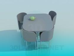 रसोई घर की मेज कुर्सियों के साथ