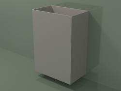Wall-mounted washbasin (03UN36102, Clay C37, L 60, P 36, H 85 cm)