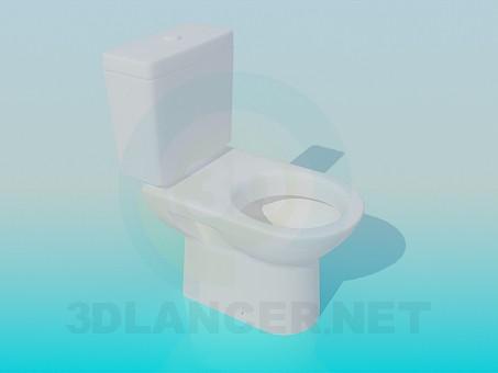 3d model Standard toilet - preview