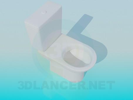 3d модель Стандартний унітаз – превью