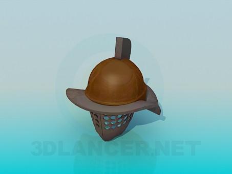modelo 3D Casco de Guerrero - escuchar