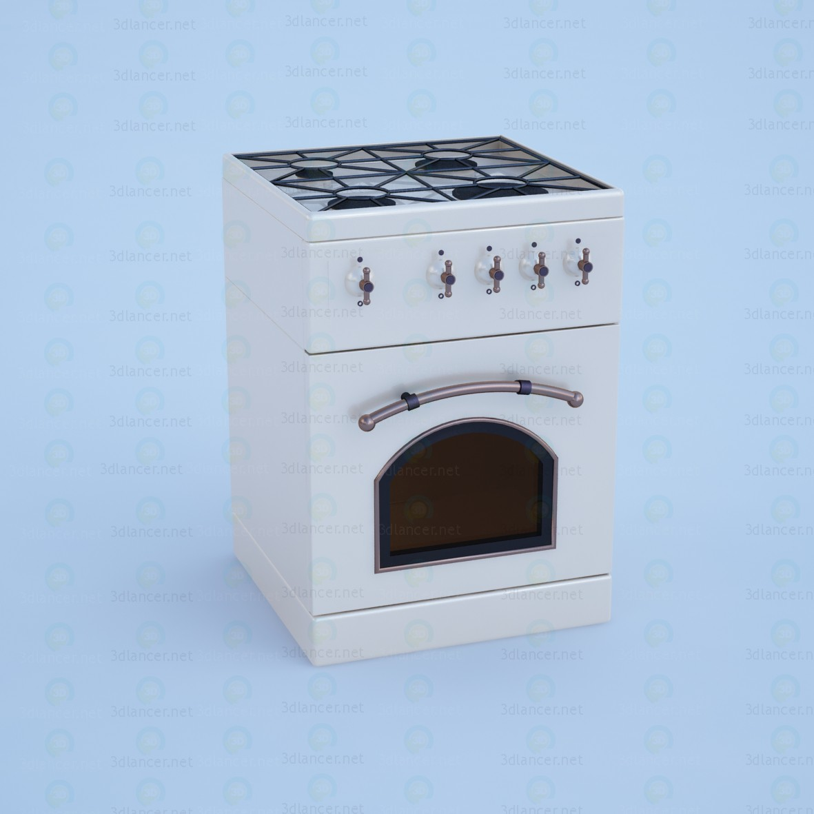 3d model Gas stove - preview