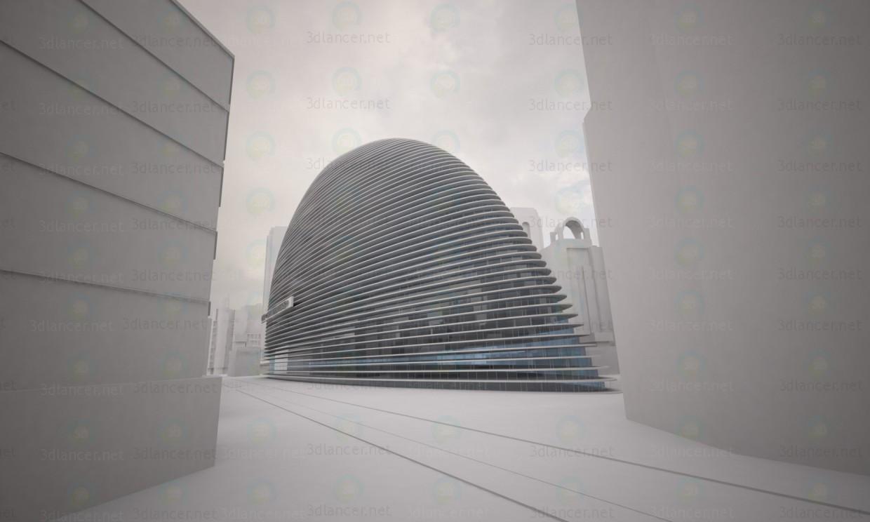 3d модель Офисное здание – превью