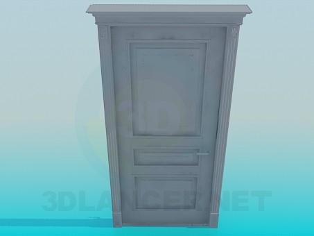 modelo 3D Puerta alta poli - escuchar