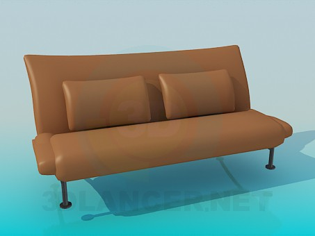 3d modeling Sofa with lether upholstery model free download