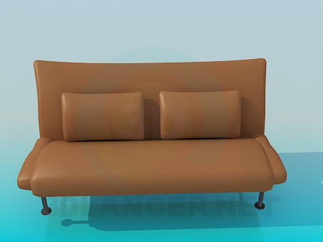 3d model Sofa with lether upholstery - preview