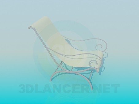 3d model Chair for exterior - preview