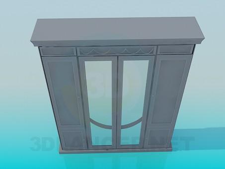 3d моделирование Шкаф гардеробный модель скачать бесплатно