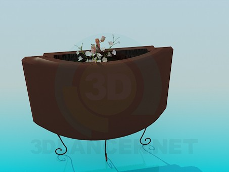 3d modeling Stand the flowers model free download
